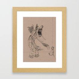 Boogieman in slacks Framed Art Print