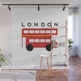 London Double Decker Red Bus Wall Mural
