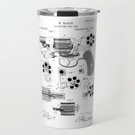 1881 Revolver Patent  Travel Mug