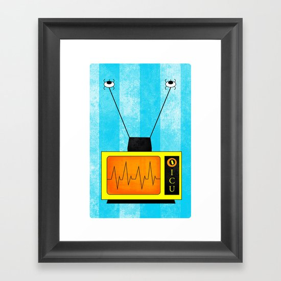 ICU. Framed Art Print