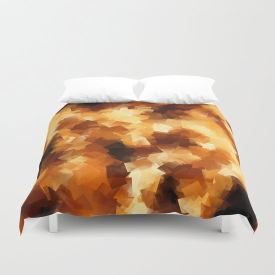 Cubist Fire Duvet Cover