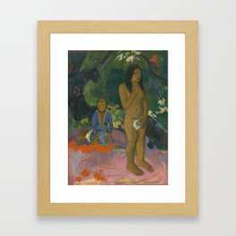 Paul Gauguin Parau na te Varua ino (Words of the Devil) 1892 Painting Framed Art Print