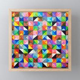 Triangle Tiles Framed Mini Art Print