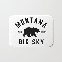 Montana Grizzly Bear Big Sky Country Established 1889 Vintage Bath Mat