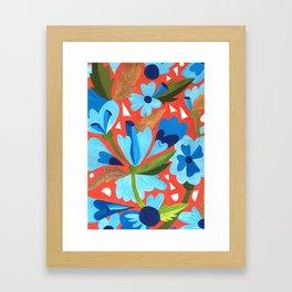 Floral Folk  Framed Art Print