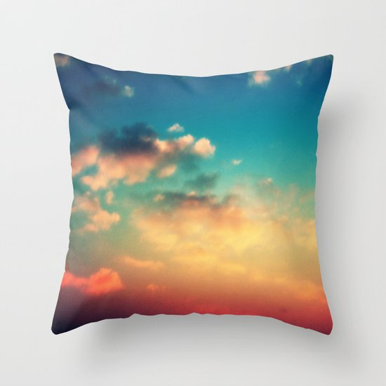 My Head is stuck in the Clouds Throw Pillow
