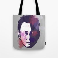 ben giles Tote Bags featuring Ben by BIG Colours