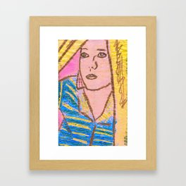 I think we'll just have to be secretly in love with each other and leave it at that. Framed Art Print