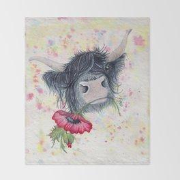Missing MacKenzie McMoo by Fiona Bárcenas Throw Blanket