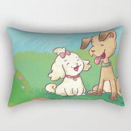 Spavinho e bonequinha  (Spavinho and Little Doll) Rectangular Pillow