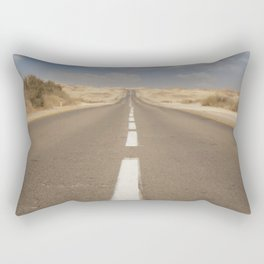 Endless road in the desert - Highway Travel photography Rectangular Pillow