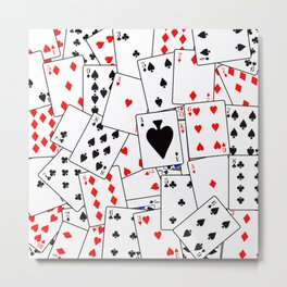 Random Playing Card Background Metal Print
