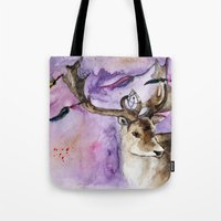dreamcatcher Tote Bags featuring Dreamcatcher by Anna Shell