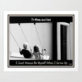 Dear Mom & Dad Prayer Art Print