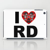 roller derby iPad Cases featuring I heart roller derby by Andrew Mark Hunter