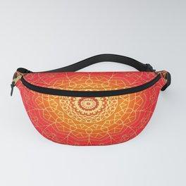Red Gold Glow Mandala Design Fanny Pack