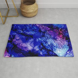 Purple Universe: Abstract Alcohol Ink Painting Rug