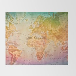 Color your World Throw Blanket