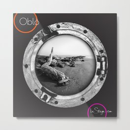 Oblo by be Strega | Beach Metal Print