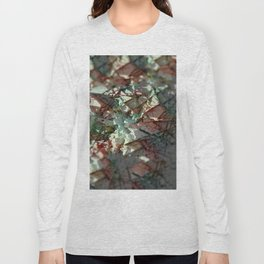 Crystals intricate pattern structure abstract background Long Sleeve T-shirt
