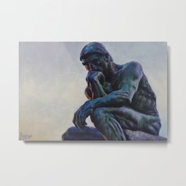 El pensador de Rodin Metal Print