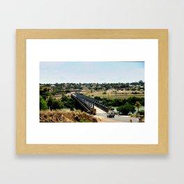 Tailem Bend Bridge over the Murray River Framed Art Print