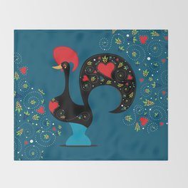 Good Luck Rooster Throw Blanket