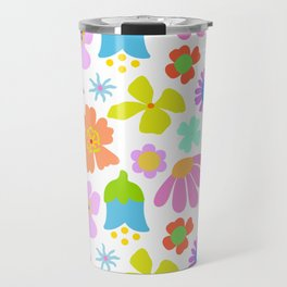 Mod Scandinavian Floral Travel Mug