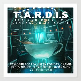 TARDIS tea Art Print