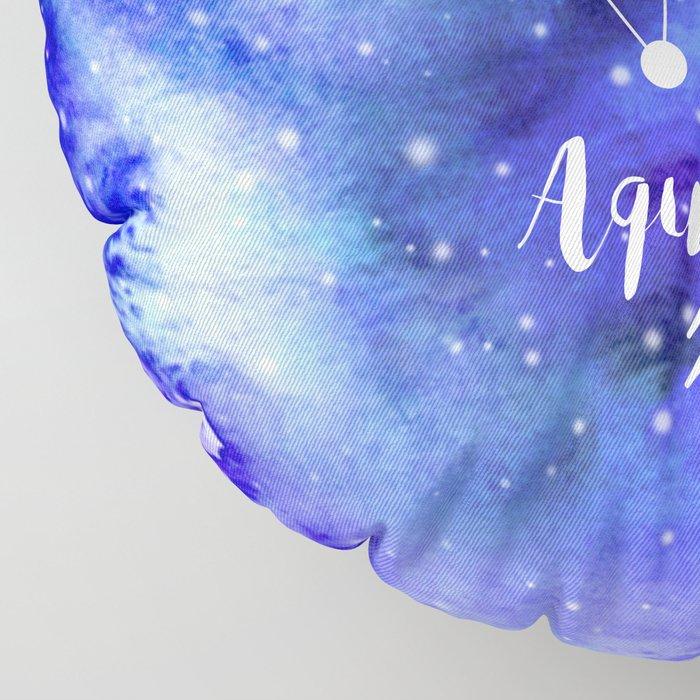 Aquarius Constellation Floor Pillow
