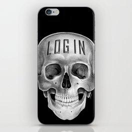 Skull Log in B&W iPhone Skin