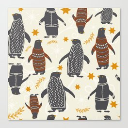 Mary's Penguins Canvas Print