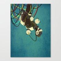 glados Canvas Prints featuring GlaDos by keygrin