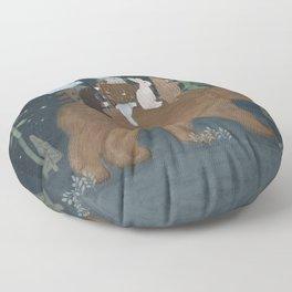 the moon bear Floor Pillow