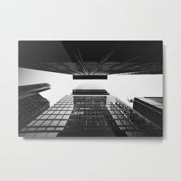 Frankfurt skyline urban cityscape photo city architecture FFM Germany Metal Print
