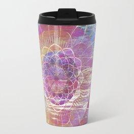 Glitch Mandala Travel Mug