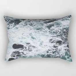 OCEAN - ROCKS - FOAM - SEA - PHOTOGRAPHY - NATURE Rectangular Pillow