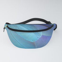 Blue Macaw Feathers Fanny Pack