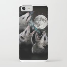3 opossum moon iPhone Case