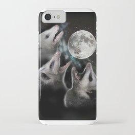 3 opossum moon iPhone Case