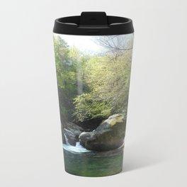 Midnight hole waterfall pool Metal Travel Mug