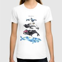 whales T-shirts featuring Whales by Amee Cherie Piek