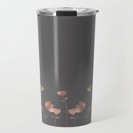 Rosegold pink flowers - floral design - Flower Travel Mug