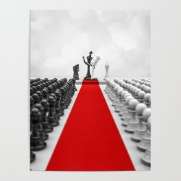 Wedding Chess / 3D render of checkmating ceremony Poster