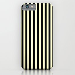 Cream Yellow and Black Vertical Stripes iPhone Case