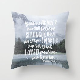Loved More Than you Know Throw Pillow