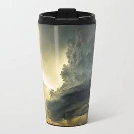 Supercell - Massive Storm Over the Great Plains Travel Mug