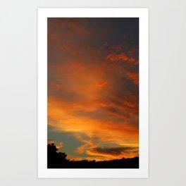 Flame Sky 2010 Art Print