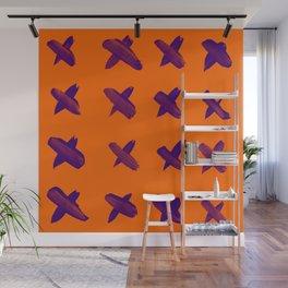 xxx - orange and purple Wall Mural