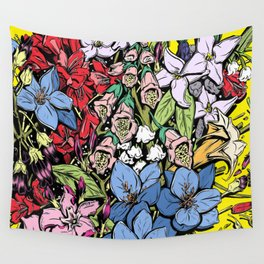 Flowers in Color Wall Tapestry